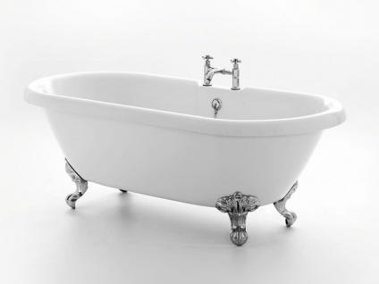 Freistehende Nostalgie Badewanne Carlton-169 aus Acryl in weiß glänzend von Bädermax - Vorschau 2