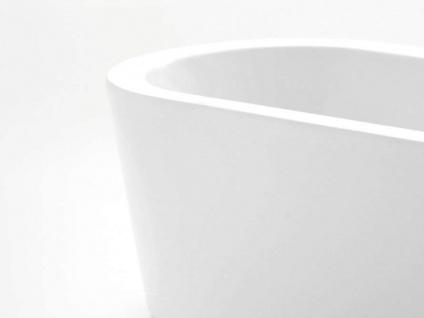 Freistehende Badewanne Almeria 149 aus Acryl in weiß glänzend von Bädermax - Vorschau 4