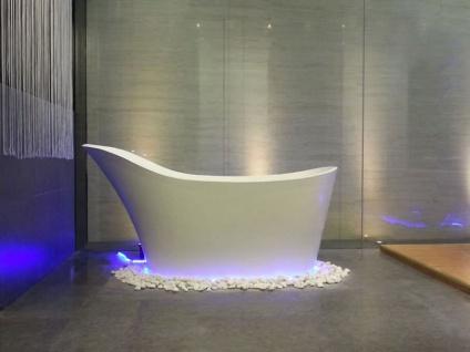 Freistehende Nostalgie Badewanne Napoli aus Mineralguss in glänzend von Bädermax