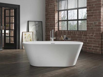 Freistehende Badewanne Madrid aus Acryl in weiß glänzend von Bädermax