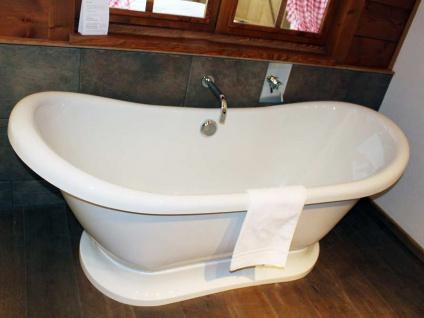 Freistehende Nostalgie Badewanne Worcester aus Acryl in weiß glänzend von Bädermax - Vorschau 5