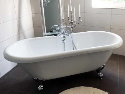 Freistehende Nostalgie Badewanne Carlton-175 aus Acryl in weiß glänzend von Bädermax