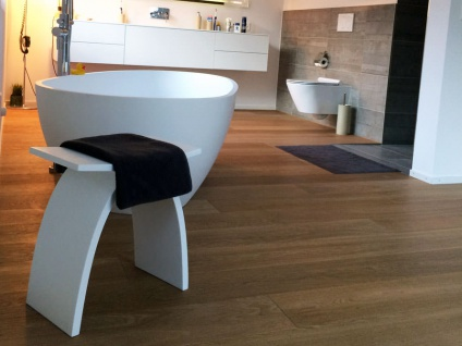 Badezimmer-Hocker aus Mineralguss - weiß glänzend - Modell Pianoro - Bädermax - Vorschau 4