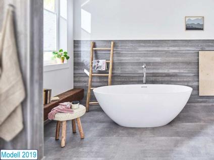 Freistehende Badewanne Piemont Medio aus Mineralguss von Bädermax inkl. Ab-/Überlauf - Vorschau 2