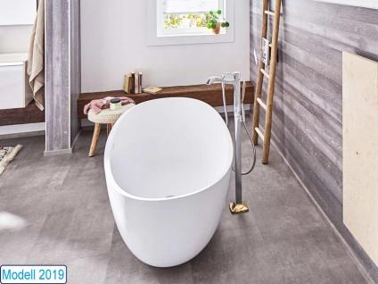 Freistehende Badewanne Piemont Mineralguss von Bädermax inkl. Ab-/Überlauf - Vorschau 3