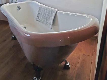 Freistehende Nostalgie Badewanne Portland aus Acryl in weiß glänzend von Bädermax - Vorschau 5