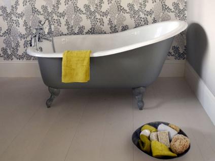 Freistehende Nostalgie Badewanne Liverpool aus Guss in weiß von Bädermax