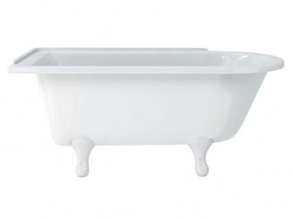 Freistehende Nostalgie Badewanne Derby small aus Acryl in weiß glänzend von Bädermax - Vorschau 3