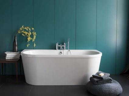 Freistehende Badewanne Mallorca aus Acryl in weiß glänzend von Bädermax - Vorschau 3