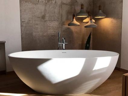 Freistehende Badewanne Piemont Mineralguss von Bädermax inkl. Ab-/Überlauf - Vorschau 5