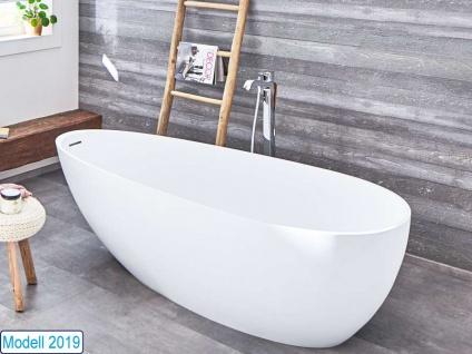 Freistehende Badewanne Luino Grande aus Mineralguss von Bädermax inkl. Ab-/Überlauf - Vorschau 4