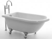 Freistehende Badewanne Chatham 138 aus Acryl in weiß glänzend von Bädermax