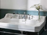 Nostalgie Waschbecken Edwardian-80 aus Keramik in weiß glänzend von Bädermax