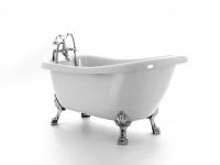 Freistehende Badewanne Portland aus Acryl in weiß glänzend von Bädermax