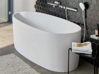 Freistehende Badewanne Varese aus Mineralguss in glänzend von Bädermax