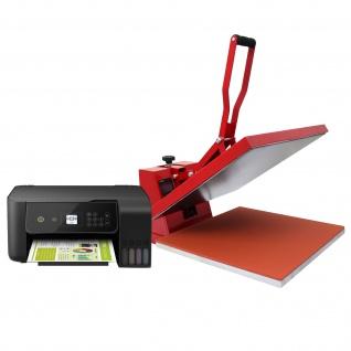 PixMax T- Shirtpresse Transferpresse Hitzepresse 50cm x 50cm mit Inkjet Drucker + Gratis Sublimationspapier
