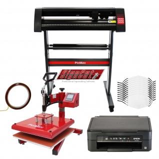 10 Gesichtsmasken, Schwingpresse, Epson Drucker, Schneideplotter & Signcut Pro