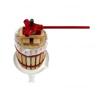 KuKoo 6 Liter - Obstpresse Beerenpresse Weinpresse Fruchtpresse Saftpresse Obstmühle mit 3 Gratis Filtersäcken - Vorschau 5