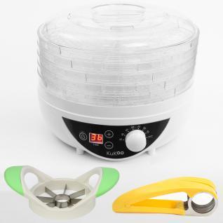Trockenobst Dehydrator Dörrgerät Dörrautomat Dörrer Obstrockner 250W BPA Frei