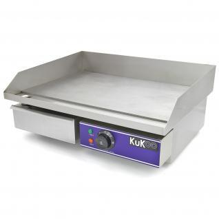 KuKoo Elektrische Catering Grillplatte Elektrogrill Grill Gusseisen Bratpfanne Bratfläche 50cm
