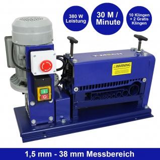 Automatische Kabelschälmaschine Abisoliermaschine Kabelabisoliermaschine Kabel Schneidzange Drahtschneidemaschine Kabelisolierer elektrisch | 380W/0.5 PS | 38 mm