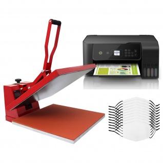10 Gesichtsmasken für den Sublimationsdruck, 38cm Transferpresse & Eco Tank Drucker