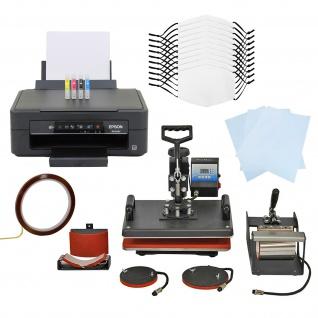 10 Gesichtsmasken für den Sublimationsdruck, 5-in-1 Hitzepresse & Epson Drucker