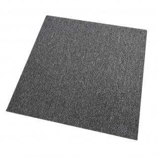 20 Stück Teppichfliesen Bodenfliesen Teppich 50 x 50 cm für 5 m² in Grau