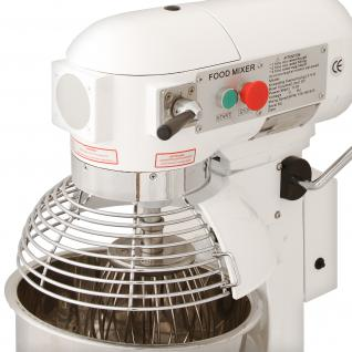 Gastro 20L Planetenrührmaschine Spiral Rührmaschine Teigknetmaschine Knetmaschine Rührwerk Küchenmaschine Gratis Knetaufsätze + Teigschaber - Vorschau 3