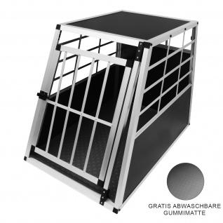 Auto Hundetransportbox große Einzelbox Hundebox Transportbox Gitterbox Fahrzeugbox Kofferraumbox Katzen Hunde Aluminium Trapez