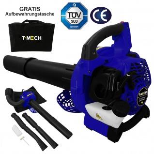 T-Mech 2-Takt 26cc 3-in-1 Benzin Laubbläser Laubsauger Hächsler Schredder & Mulcher