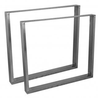 Tischbein 4er Set höhenverstellbar 70-110cm Möbelbein Tischfuß mehrere Farben