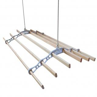 2.4 m Deckentrockner aus Holz Kleidetrockner Wäschetrockner Trockner Deckenwäschetrockner im Viktoranischer Stil -Weiß
