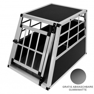 Auto Hundetransportbox Kleine Einzelbox Hundebox Transportbox Gitterbox Fahrzeugbox Kofferraumbox Katzen Hunde Aluminium Trapez