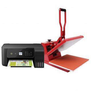 PixMax Transferpresse Flachpresse Hitzepresse Sublimationspresse T-Shirtpresse Wärmepresse Textildruck mit Epson Drucker & Gratis Sublimationspapier
