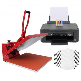 10 Gesichtsmasken für den Sublimationsdruck, 38cm Transferpresse & Epson Drucker