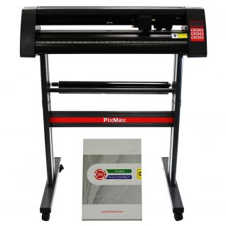 PixMax 720mm Vinyl Schneideplotter Plotter Vinyl-Schneideplotter Folienplotter inklusive Software + Gratis 3 x Roland Schneidemesser