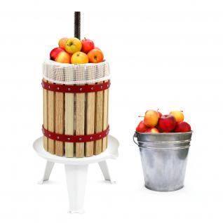 KuKoo 18 Liter - Obstpresse Beerenpresse Weinpresse Fruchtpresse Saftpresse Entsafter Obstmühle mit 3 KOSTENLOSEN Filtersäcken
