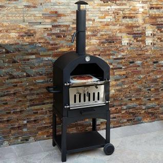 KuKoo Outdoor Pizzaofen Pizza Ofen Gartenofen Steinbackofen Smoker Grill 156 cm H x 64 cm B x 43 cm T Gratis Pizza Schieber - Vorschau 1