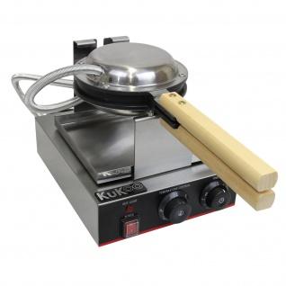KuKoo Profi Waffeleisen Gastro-Waffeleisen Waffelautomat mit Gratis Waffelzange