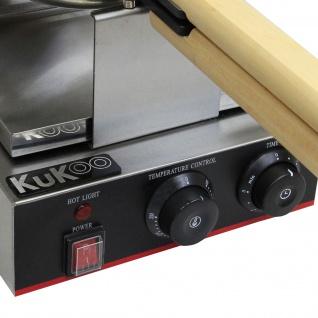 KuKoo Profi Waffeleisen Gastro-Waffeleisen Waffelautomat mit Gratis Waffelzange - Vorschau 4