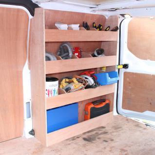 Monster Racking Ford Transit Lieferwagen Werkstattwagen Sortiersystem Werkzeugaufbewahrung Regal Holzregal Autoregal Werkstattregal 102cm x 30cm x 136cm