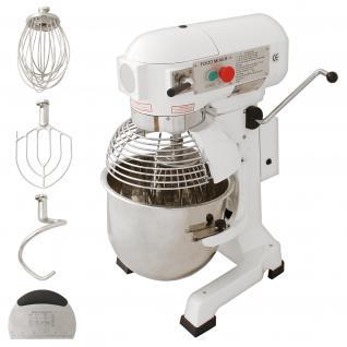 Gastro 20L Planetenrührmaschine Spiral Rührmaschine Teigknetmaschine Knetmaschine Rührwerk Küchenmaschine Gratis Knetaufsätze + Teigschaber