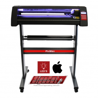 720mm Vinyl Schneideplotter mit LED Folienplotter Schneideplotter Plotter inklusive 3 x Roland-Messer SignCut Software