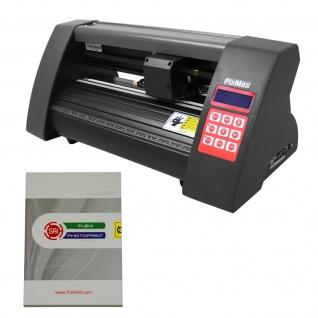 PixMax 525mm Mini Schneideplotter Plotter Folienplotter Folienschneider Schneidplotter Plotten 3 Gratis x Roland Schneidemesser mit Flexi Starter Software