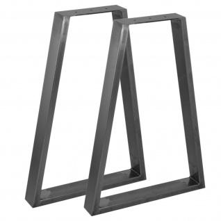 2 x SkiSki Tischbeine Tischfüße Industriedesign Trapez Trapezform Tischgestell Tischuntergestell Tischfüße Tischgestell- Klarlack & Untersetzer für Möbel