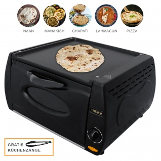 Mini Tandoor Ofen Tandur Grill Chapati Roti Lahmacun Manakish Pizza Naan Brot Elektrisch 2100W 13L