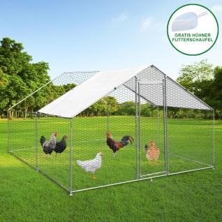 Hühnerstall 3m x 4m x 1.8m Hühnerfreilauf Freilaufgehege Auslauf Hühnerkäfig UV Sonnendach Kleintierstall Hühnerhaus Freilauf Outdoor