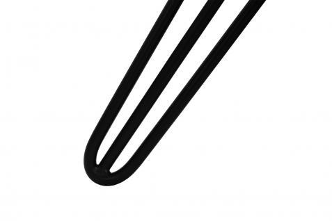 SKISKI Legs 4 x 2 Streben Hairpin Haarnadelbeine Haar-Nadel-Beine Haarnadel-Beine Tischbeine Stuhlbeine Möbelbeine Haarnadel-Tischbeine 71cm H 10mm D pulverbeschichtet Schwarz