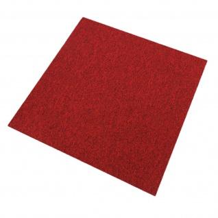 20 Stück Teppichfliesen Bodenfliesen Teppich 50 x 50 cm für 5 m² in Fieberrot